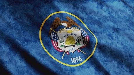 Utah State 3D animation flag