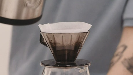 V60 pour over coffee