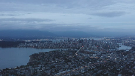 Vancouver city seen from above