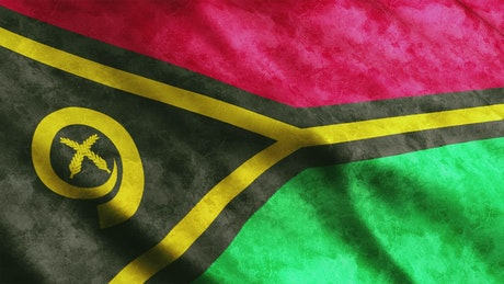 Vanuatu 3D flag waving by the wind