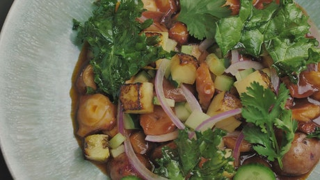 Vegan-looking food on a plate