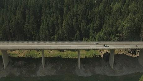 Vehicle bridge in a mountain area