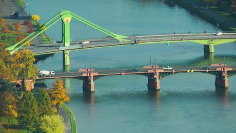 Vehicle bridges in a commercial port
