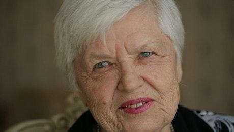 Very happy and surprised senior woman, portrait