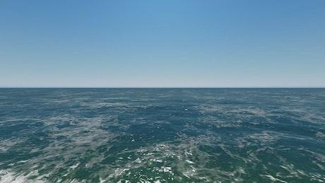 Very small sea waves