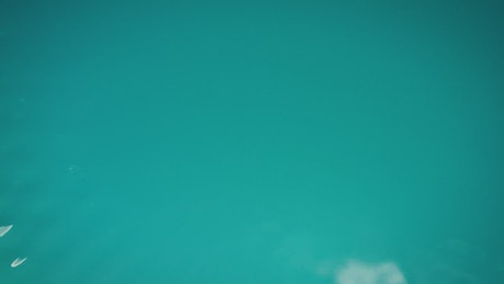 Vibrant turquoise blue water