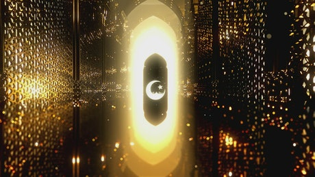 Video about the night of Ramadan, 3D animation