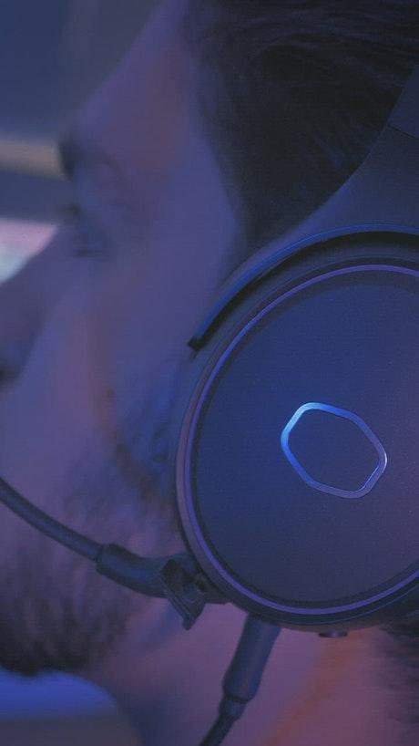 Video editor using headphones