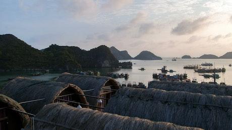 Vietnam rural seashore time lapse