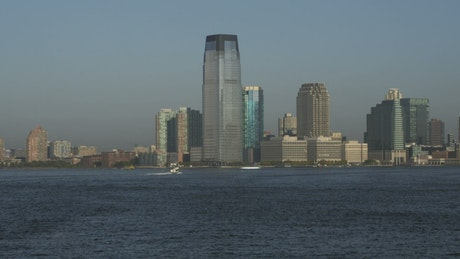 View from a boat on the Hudson