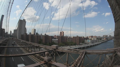 View from above the Brooklyn Bridge
