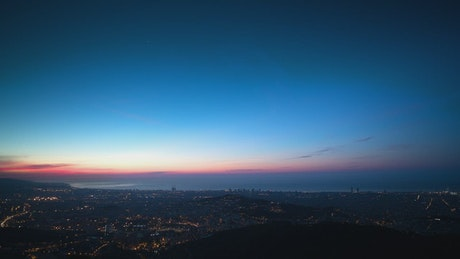 View from the top of the city of Barcelona