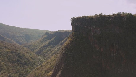 View of cliffs and a valley
