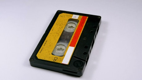 Vintage audio cassette rotating