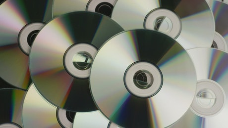 Vintage compact disc rotating