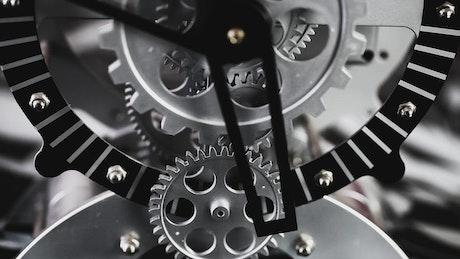 Visible machine clock