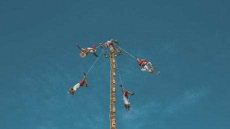 """Voladores de Papantla"" show in Mexico"