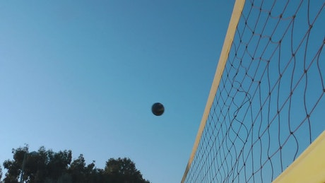 Volleyball match, view towards the net