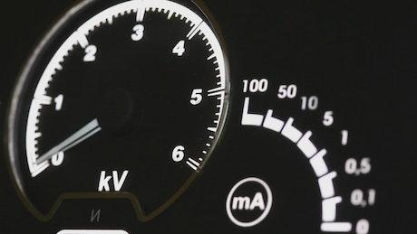 Voltage meter, close up