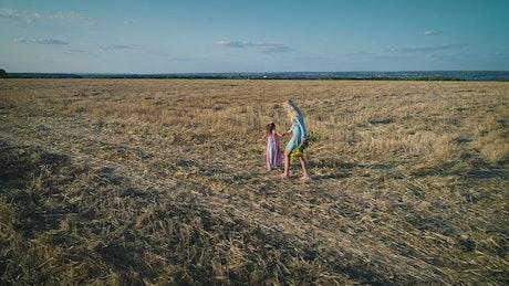 Walk in the field, conceptual video