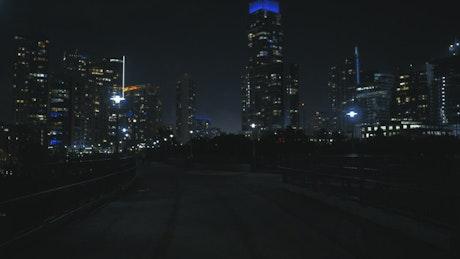 Walking a big city walker at night