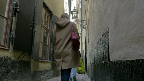 Walking down a very old street