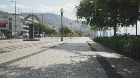 Walking on the street on Madeira