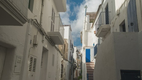 Walking through ibiza old town