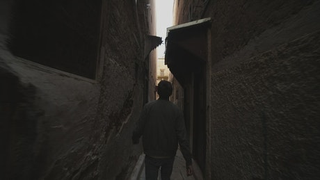 Walking through the alleys of an ancient city