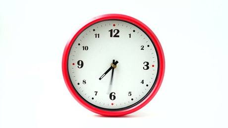 Wall clock with red frame