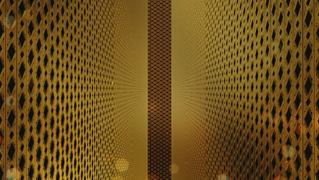 Walls with classic golden decorations, loop video