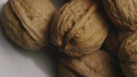 Walnuts close up rotating