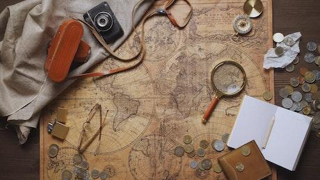 Wanderlust planning a trip