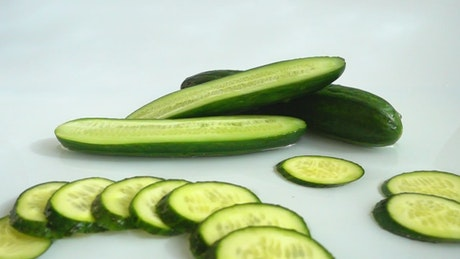 Washing cucumbers