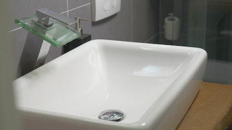 Washing in a modern sink
