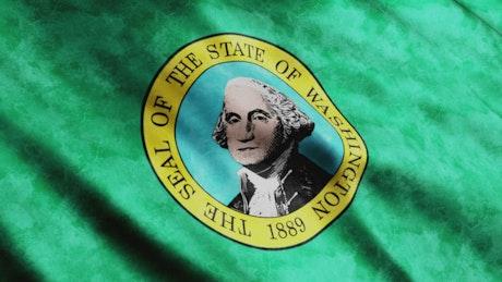Washington State flag waving