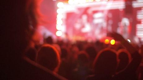 Watching a pop concert