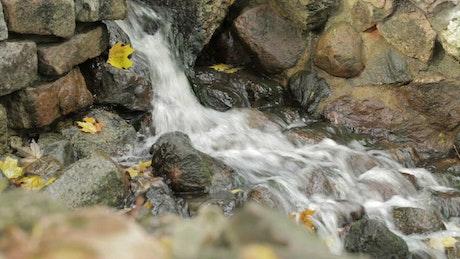 Water running through a wall