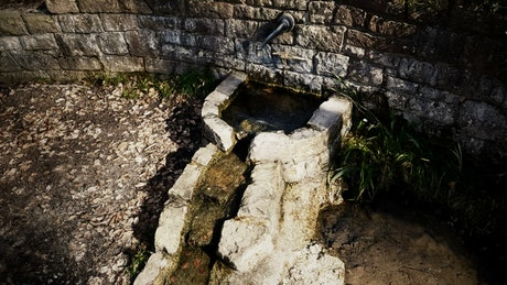 Water well in an ancient village