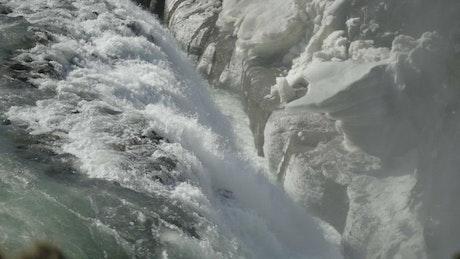 Waterfall breaking over the edge