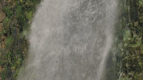 Waterfall closeup slow motion