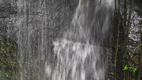 Waterfall in a public garden