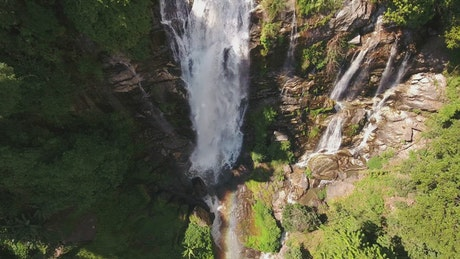 Waterfall seen from the top