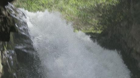 Waterfall, tracking shot