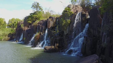 Waterfalls in a reserve