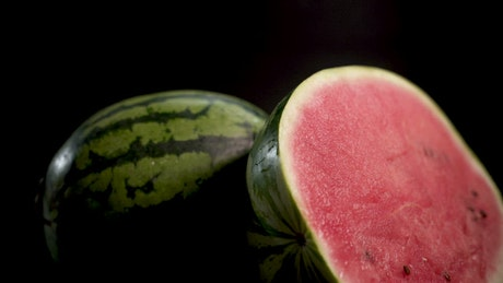 Watermelons on a black background