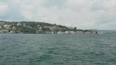 Waterside houses in Istanbul