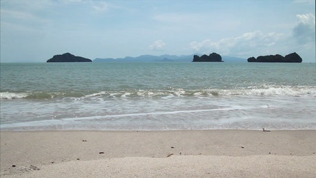 Waves breaking on the Andaman Sea