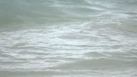 Waves crashing in slow motion
