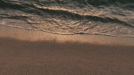 Waves reaching the shore